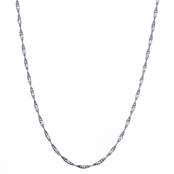 "Sterling Silver Singapore Chain - 30"" (1mm)"