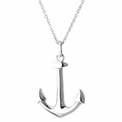Sirena's Silver Anchor Charm Necklace
