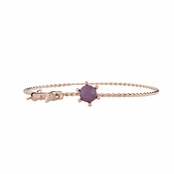 Skye's Cat Charm Bracelet with Purple Crystal