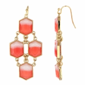 Skyler's Coral Stone Bohemian Dangle Earrings