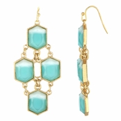 Skyler's Imitation Turquoise Bohemian Dangle Earrings