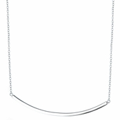 Sofie's Silvertone Curved Bar Necklace