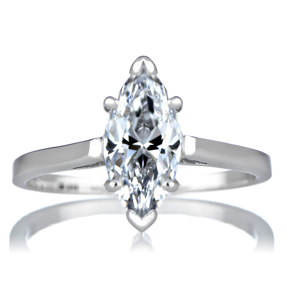 s signity cz engagement ring marquise cut