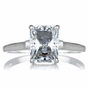 Sonia's Signity CZ Engagement Ring - Radiant Emerald Cut