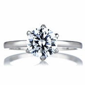 Sonia's Signity CZ Engagement Ring - Round Cut