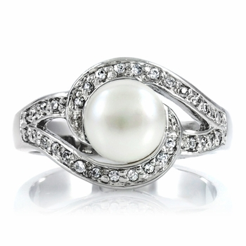 Sosie's Sterling Silver Freshwater Pearl Ring