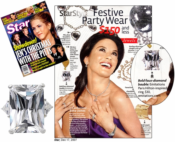 Star Features Emitations Paris-Inspired Ring - 12.17.07