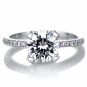 Rita's 1.5 ct Round Cut CZ Engagement Ring