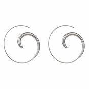 Sybill's Hoop Swirl Earrings