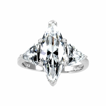 Sylvania's 8 TCW CZ Marquise Cut Right Hand Ring