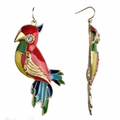 Tabitha's Dangle Parrot Earrings