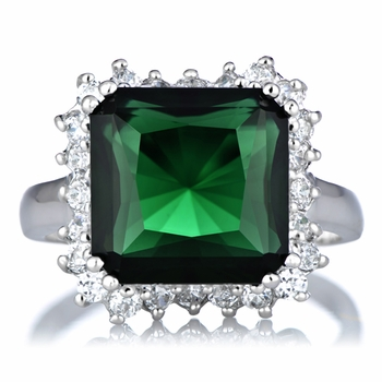 Talmadge's Cocktail Ring - Simulated Emerald