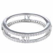 Tammy's Silver Plated Double Row CZ Eternity Band