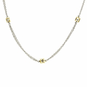 Tara's Two Tone CZs by the Yard Necklace - 35""