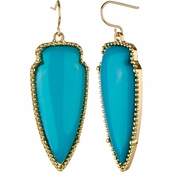 Teresa's Boho Blue Dangle Earrings