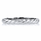 Tia's Twisted Stackable Silvertone Ring