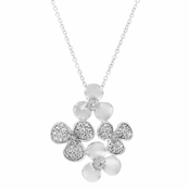 Tisha's 3 Petal CZ Flower Necklace