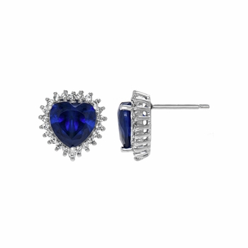 Jewelry Comparable to Titanic: Heart of the Ocean Blue CZ Stud Earrings