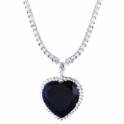 Legendary Titanic Necklace - Blue Heart of the Ocean Pendant