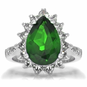 Tori's Simulated Emerald Cocktail Ring