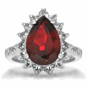 Tori's Red CZ Cocktail Ring