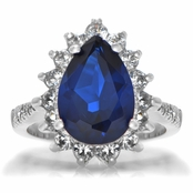 Tori's Simulated Sapphire Cocktail Ring