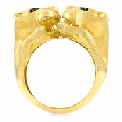 Traci's Wildcat Cocktail Ring - Gold Plated