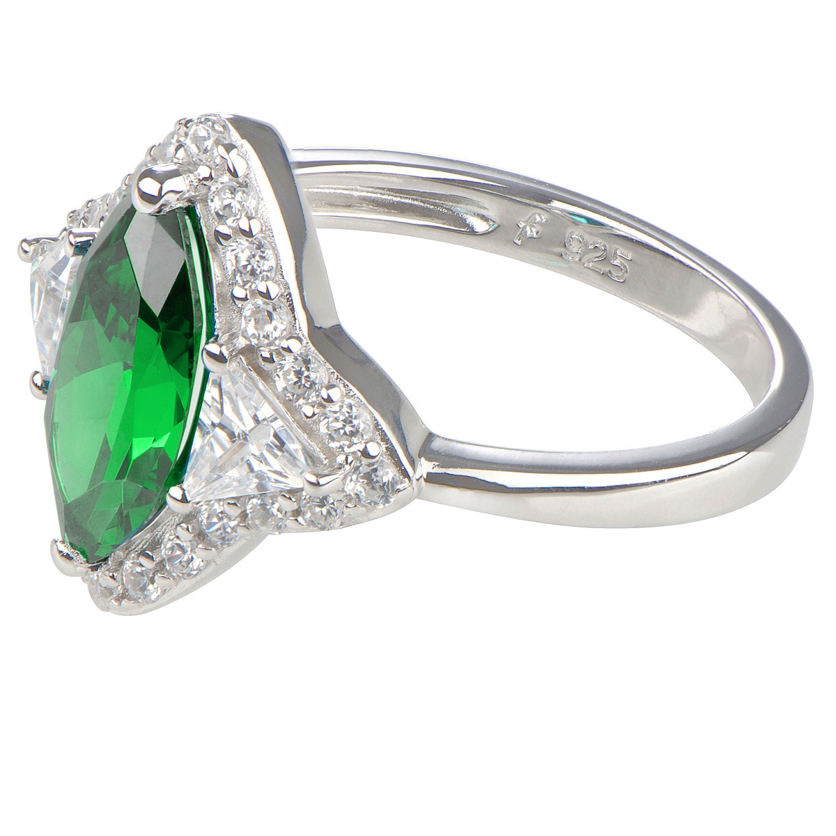 tracy s marquise cut emerald cubic zirconia ring