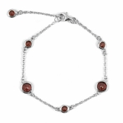 Treena's CZs by the Yard Bracelet - Faux Garnet