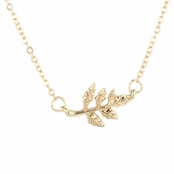 Trinity's Goldtone Leaf Necklace