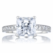 Trista's Promise Ring - Clear Princess Cut CZ