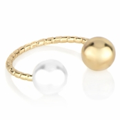 Vannie's Goldtone Imitation Pearl Ring