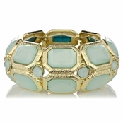 Velvet's Mint Green Stretch Fashion Bracelet