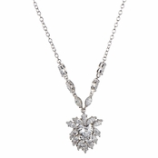 Vera's Fancy Heart CZ Cluster Necklace