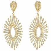 Victoria's Fancy CZ Gold Plated Drop Earrings