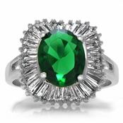 Wendy's Simulated Emerald Cocktail Ring