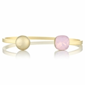 Willa's Stackable Cuff Bracelet with Pink Swarovski Crystal