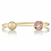 Willa's Stackable Cuff Bracelet with Rose Swarovski Crystal