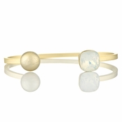Willa's Stackable Cuff Bracelet with White Swarovski Crystal
