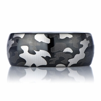 Willie's Black Tungsten Camo Ring