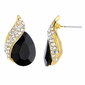Wilma's Fancy Black Pear Drop Earrings