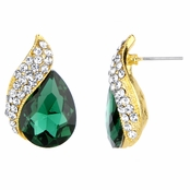 Wilma's Fancy Green Pear Drop Earrings