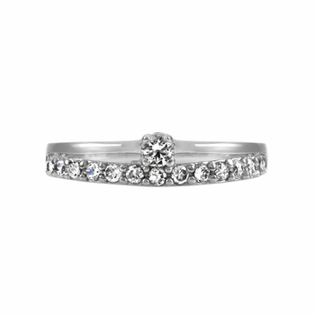 Yara's CZ Promise Ring - Petite Double Band