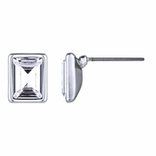 Zelia's Emerald Cut Swarovski Crystal Stud Earrings