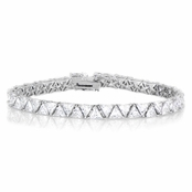Zermot's 7.5 in. Trillion Cut CZ Tennis Bracelet