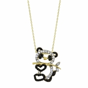Zhen Zhen's 18in Gold CZ Panda Necklace