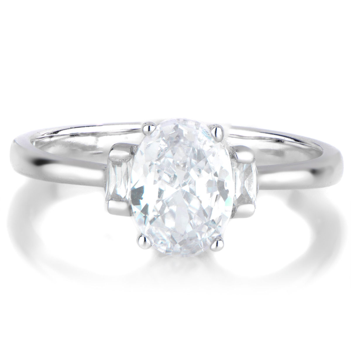 Zion s Oval Cut 3 Stone Engagement Ring