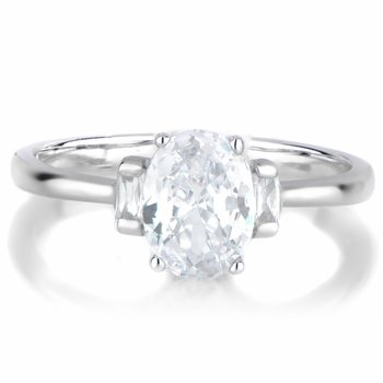 Zion's Oval Cut 3 Stone Engagement Ring