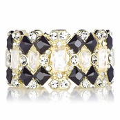 Zoe's Black and White Fancy Stretch Bracelet