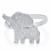 Zoey's Petite Silvertone Elephant Ring